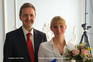 Smartlearn Preisträgerin Frau Brandt